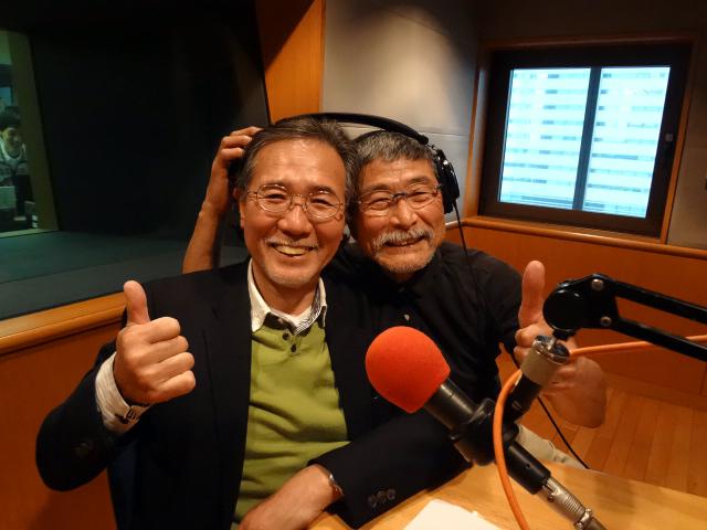 山崎憲治さん、津々見友彦さん
