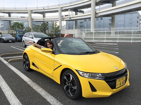 藤本えみりホンダS660試乗レポート 015